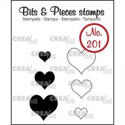 Clear Stamps Crealies - Bits & Pieces - Hearts