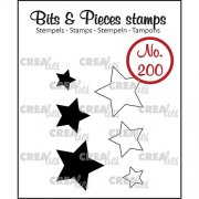 Clear Stamps Crealies - Bits & Pieces - Stars