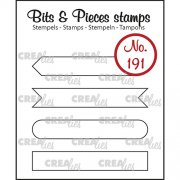 Clear Stamps Crealies - Bits & Pieces - Strips set A Outline