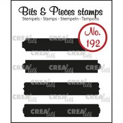 Clear Stamps Crealies - Bits & Pieces - Strips set A Solid