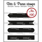 Clear Stamps Crealies - Bits & Pieces - Strips set A