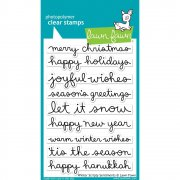 Clear Stamp - Lawn Fawn - Winter Scripty Sentiments