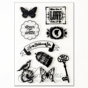Clearstamps Playbox - 4 ark - Home Sweet Home