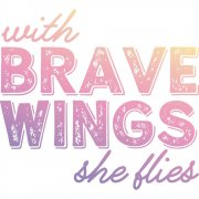 Clear Stamp Couture Creations - Brave Wings