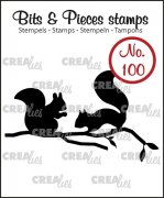 Clearstamp Crealies - Bits & Pieces - Squirrels