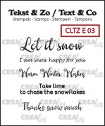 Clearstamp Crealies - Text & Co - Snow