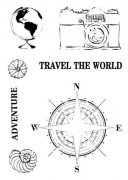 Clearstamps 13 Arts - Travel the World