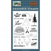 Clearstamps Carta Bella - Summer Camp - Let Summer Begin