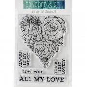 Clearstamps Concord & 9th - All My Love