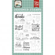 Clearstamps Echo Park - Happy Fall - Give Thanks, Happy Fall