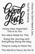 Clearstamps My Favorite Things - Good Luck Greetings