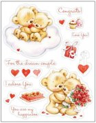 Clearstamps 14 stämplar - My Little Bear Valentine - Scrapberry's