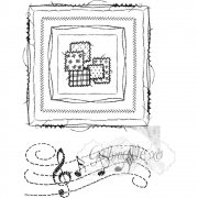 Clear Stamps 49 and Market - Gabi´s Square Stitch
