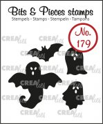 Clear Stamps Crealies - Bits & Pieces - Ghosts and bat