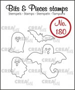 Clear Stamps Crealies - Bits & Pieces - Ghosts and bat 2