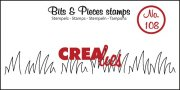 Clear Stamps Crealies - Bits & Pieces - Grass Edge Medium