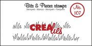 Clear Stamps Crealies - Bits & Pieces - Grass Edge Small
