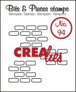 Clear Stamps Crealies - Bits & Pieces - Open Bricks Medium
