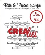 Clear Stamps Crealies - Bits & Pieces - Open Bricks Small
