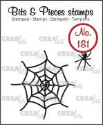 Clear Stamps Crealies - Bits & Pieces - Spider & Web