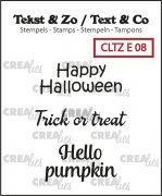 Clear Stamps Crealies - Text & Co - Halloween