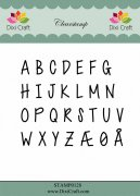 Clear Stamps Dixi Craft - Alphabet Upper Case