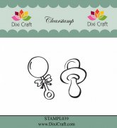 Clear Stamps Dixi Craft - Pacifier & Rangle