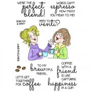 Clear Stamp Set InkyAntics - Scented Smiles - Coffee Break 2