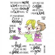 Clear Stamp Set InkyAntics - Scented Smiles - Wine Time