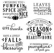 Clearstamps LDRS Creative - Happy Fall Sentiment