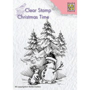 Clearstamps Nellie Snellen - Christmas Snowman and rabbit