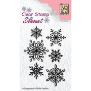 Clearstamps Nellie Snellen - Silhouett Snowflakes