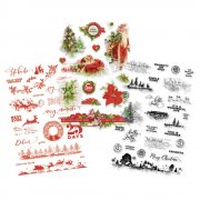 Clear Stickers - Simple Stories - Simple Vintage Christmas