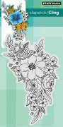 Cling Stamp Penny Black - Flower Cascade