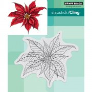 Cling Stamp Penny Black - Christmas Poinsettia