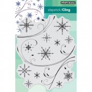 Cling Stamp Penny Black - Snowflake Medley