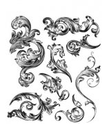 Cling Stamps Tim Holtz - Scrollwork