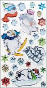 Epoxy Stickers Sticko - Cool Polar Bears - 26 delar