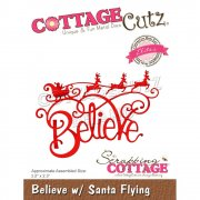 CottageCutz Die - Believe with Santa Flying