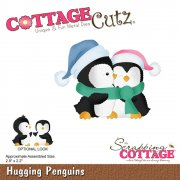 CottageCutz Die - Hugging Penguins