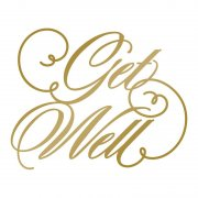 Couture Creations - Anna Griffin - Foil Stamp Die - Get Well