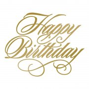 Couture Creations - Anna Griffin - Foil Stamp Die - Happy Birthday