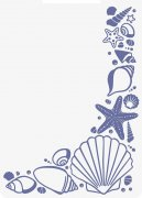 Crafter's Companion 2D Embossing Folder - Nautical Seashell Corner