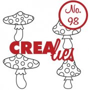 Clearstamp Crealies - Bits & Pieces - no.98 - Mushrooms