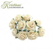 Mulberry Rose - 10 mm - Creme