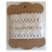 Spets Reprint Cotton Lace 2m - Creme 20mm