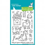 "Clear Stamps 4""X6"" - Lawn Fawn - Critters Ever After - Sagoväsen"
