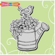 Cling Rubber Stamp - Watering Can Bird - Stampendous