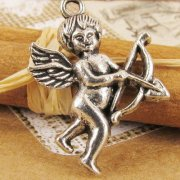 Charms 2 st - Cupid Angel 28mm
