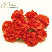 Mulberry Curly Rose - 25 mm - Red 10 st